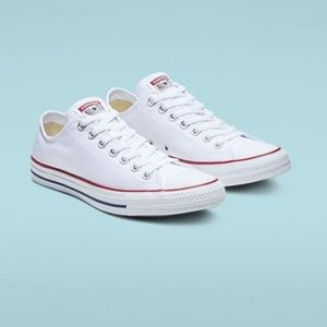 Converse White Low Top Sneaker Women's 6